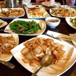 Shanghai Gardens – Chinese-ish. All the dishes are original. Particularly the barley green hand shaven noodles