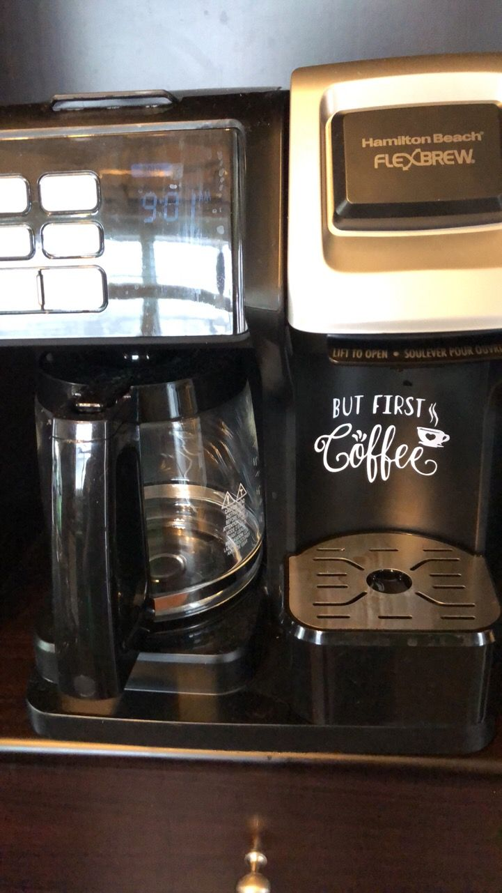 But first coffee vinyl decal for coffee maker