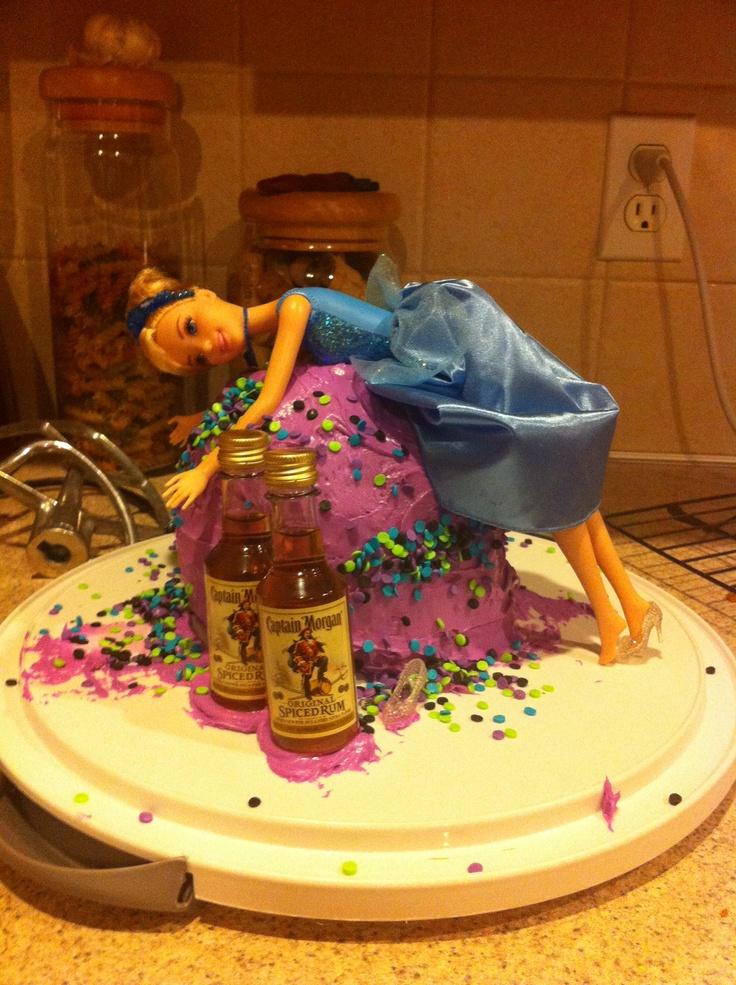 21st Birthday Cake With Favorite Disney Princess The