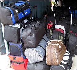 You'll need lots of luggage when visiting Thailand.