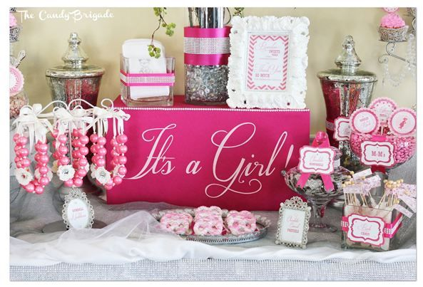 Pink Candy Buffet For An Elegant Baby Shower In Connecticut, Candy Table,  Classy Parties, Dessert Tables | Pink Baby Shower   Candy Buffet |  Pinterest ...