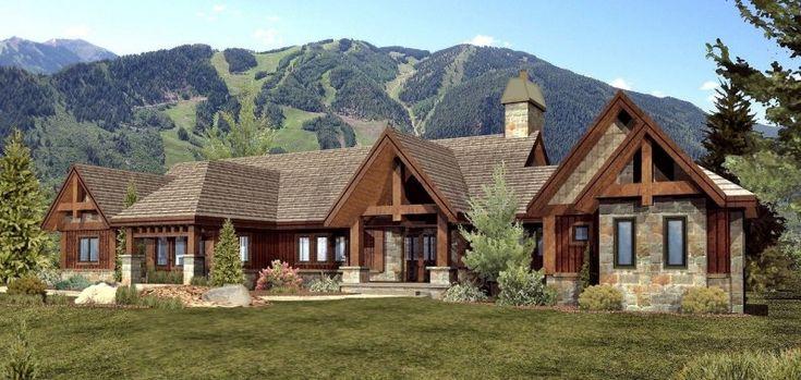 Modern Log Cabin Homes | Log Home, Timber Frame Hybrid Home Floor Plans by Wisconsin Log ...