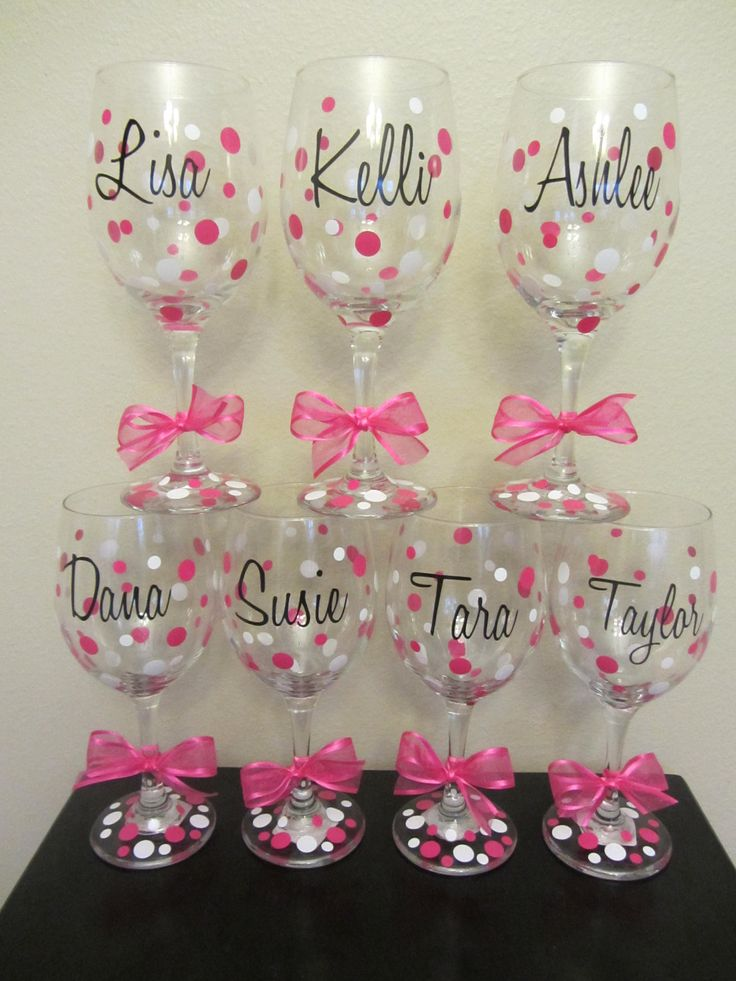 bachelorette party glasses | ... glasses- great for the wedding party, shower or bachelorette party
