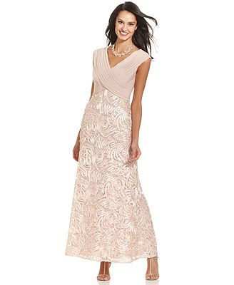 Patra Cap-Sleeve Embroidered Lace Gown   So elegant!!!!