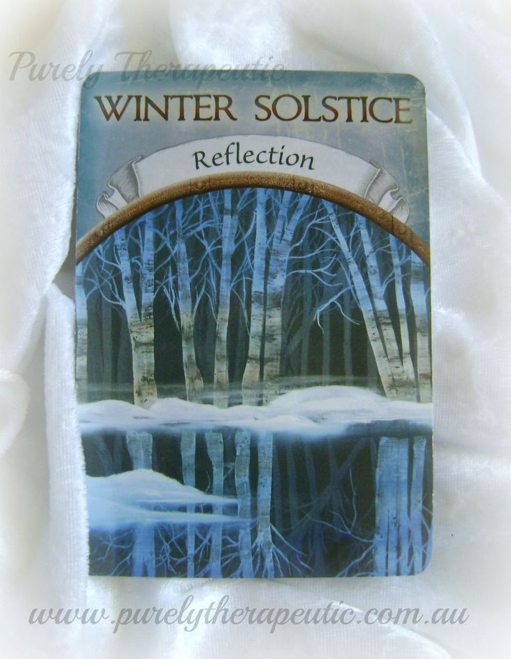 WINTER SOLSTICE ~ Reflection 'Earth Magic' by Steven D. Farmer Purely Therapeutic ♥ www.purelytherapeutic.com.au https://instagram.com/purelytherapeutic