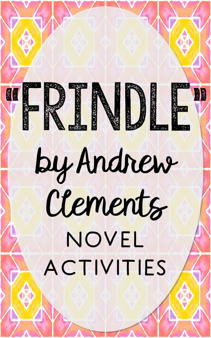 Frindle by Andrew Clements. This NO-PREP resource is perfect if you're looking for novel activities that are engaging and demonstrate comprehension WITHOUT multiple choice tests! This unit includes vocabulary terms, poetry, author biography research, themes, character traits, one-sentence chapter summaries, and note taking activities. You'll also find an author quote poster, a tri-fold bookmark, and character/vocabulary wall cards (plus EDITABLE cards!).