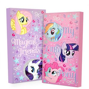 My Little Pony Glow in the Dark 2-Pack Canvas Wall Art  http://www.walmart.com/ip/My-Little-Pony-Glow-in-the-Dark-2-Pack-Canvas-Wall-Art/36261430?action=product_interest&action_type=image&placement_id=irs_middle&strategy=PWVUB&visitor_id=88173406714&category=0%3A5427%3A524144%3A476077&client_guid=de03dfd2-6f9d-4141-840f-080a397de181&config_id=0&parent_item_id=36351240&guid=2fd6cf92-2da9-4322-be41-d1d3b642660a&bucket_id=irsbucketdefault&findingMethod=p13n