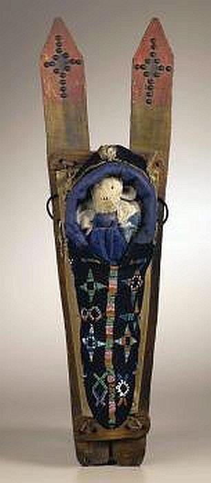 Kiowa Toy Cradleboard - Circa 1895 - Length 22 in.