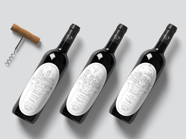 Simply Range Wine by Joshua Walker wine bottle