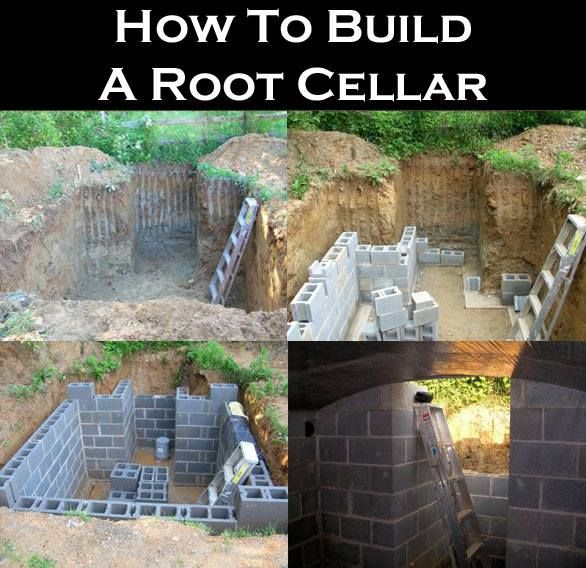 how to build a root cellar in a garage