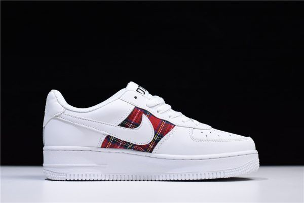 Nike Air Force 1 07 Low Flannel White Red AH596728 035 On