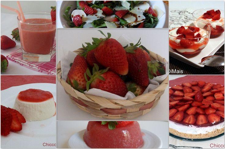 Ricette con fragole facili e veloci. Raccolta di ricette dolci e salate con le fragole. Dolci facili e veloci senza cottura muffin risotto insalata e altro