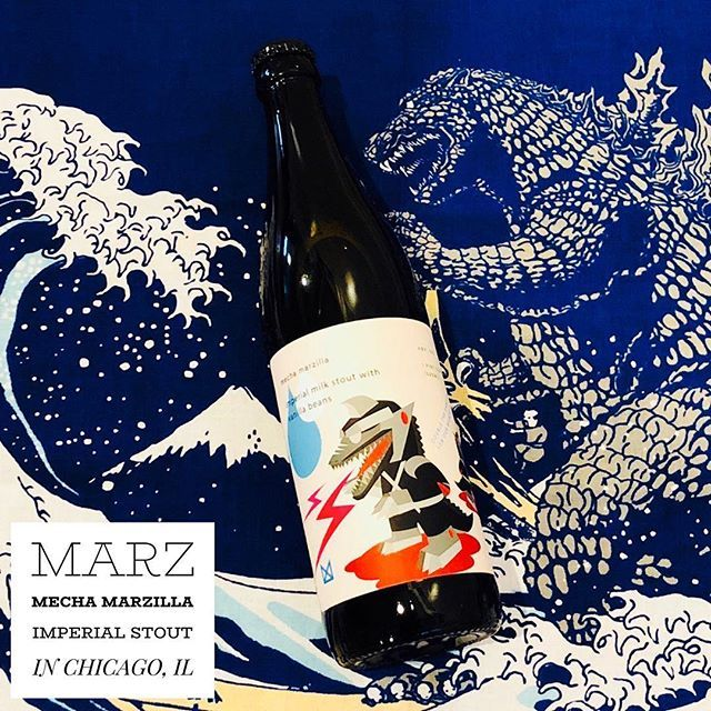 Even though we havent had this monster yet we had to post about it since our good buddy @veggiesomething designed the label for it. Also we have a special lust in our loins for @marzbrewing so why not give them an extra shout? Get this beer and send high fives to @veggiesomething.  ————————————— Brewery: @marzbrewing From: Chicago IL  Beer: Mecha Marzilla Imperial Stout ABV: 10% —————————————  Follow us for beer goodies & giveaways!  Like this photo and support good beer!  Tag #HOPSMASH to share your beers!  Click our bio link for beer goods! —————————————  Tag a friend who you'd like to share this beer with! ————————————— #marzbrewing #beerstagram #craftnotcrap #beertography #drinklocalbeer #marzcommunitybrewing #craftbeerporn #Illinoisbeer #chicagocraftbeer #beersnob #beerporn #imperialstout #stout #craftbeerlife #craftbeernotcrapbeer #beernerd #beergasm #craftbeerlover