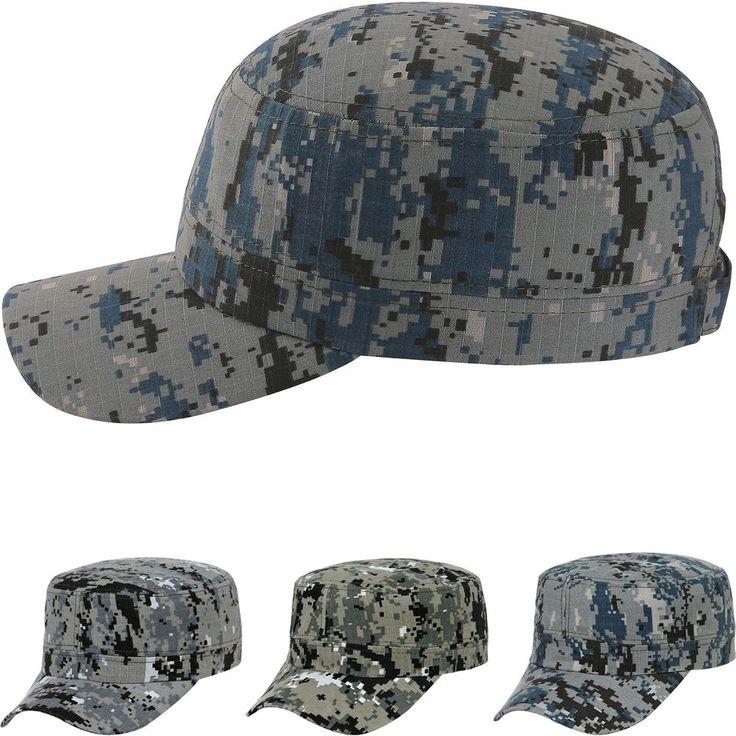 Digital Camo Camouflage Army Military Cadet Patrol Castro Cap Hat Combat Hunting #hellobincomJUNGIL #CadetPatrolCastroCapHats