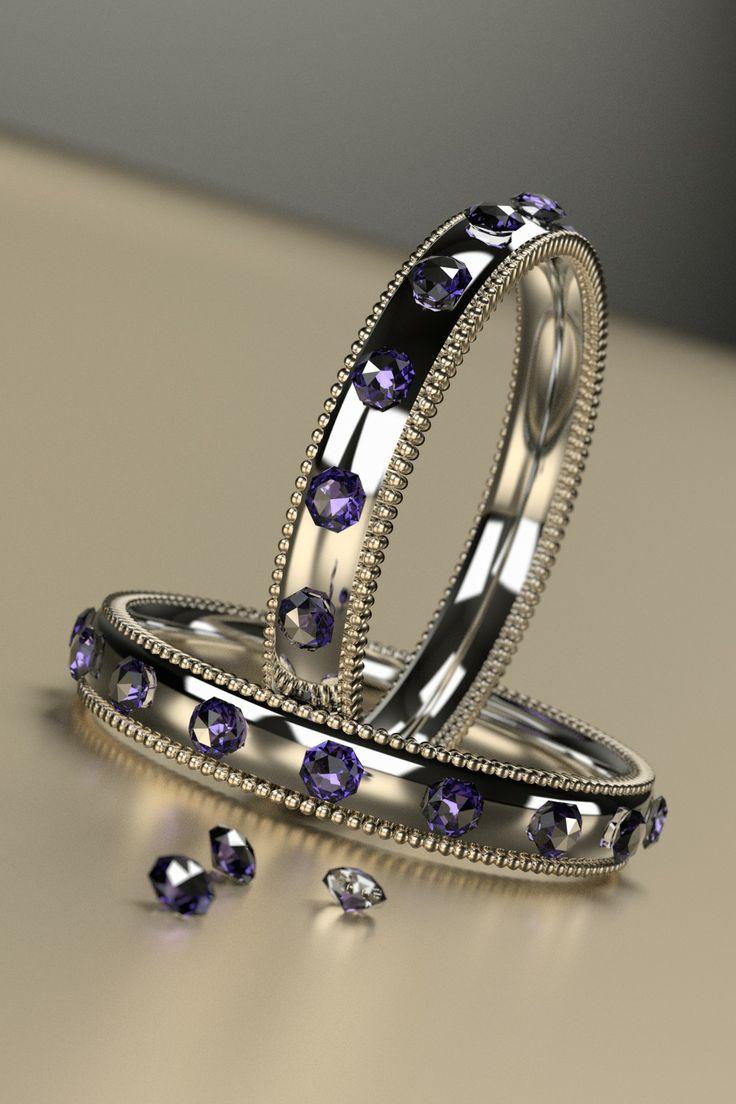 Two silver rings made with Blender 3D. © Johanna Pakkala. – 3D jewellery, 3D modeling. www.jossu.net