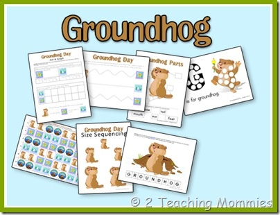 Groundhog's Day {Printables}... by www.2teachingmommies.com