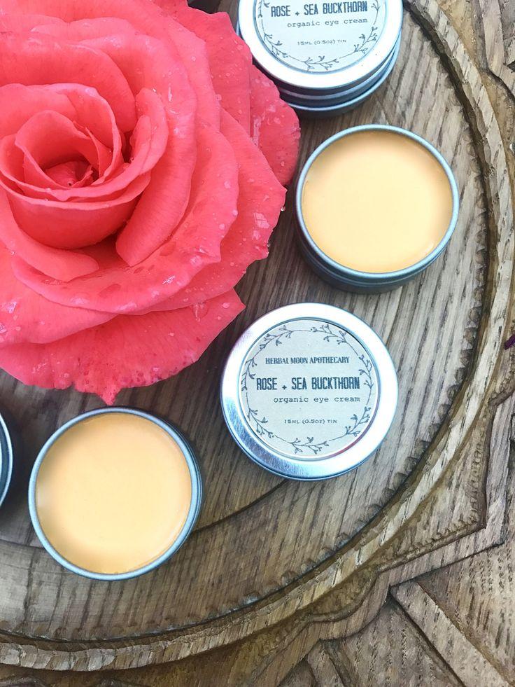 Rose + Sea Buckthorn eye cream, organic