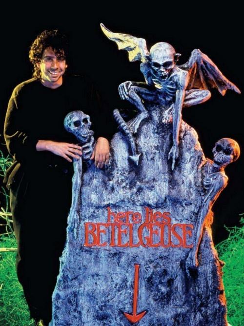 Tim Burton on the set of 'Beetlejuice'.
