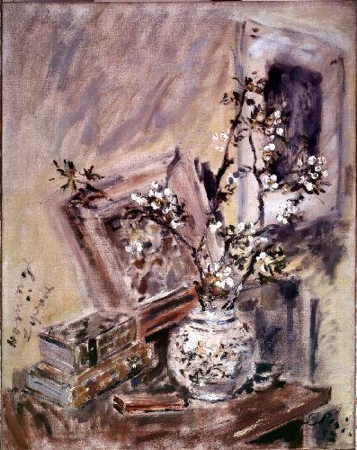 Filippo De Pisis Vaso con fiori e natura morta, 1937