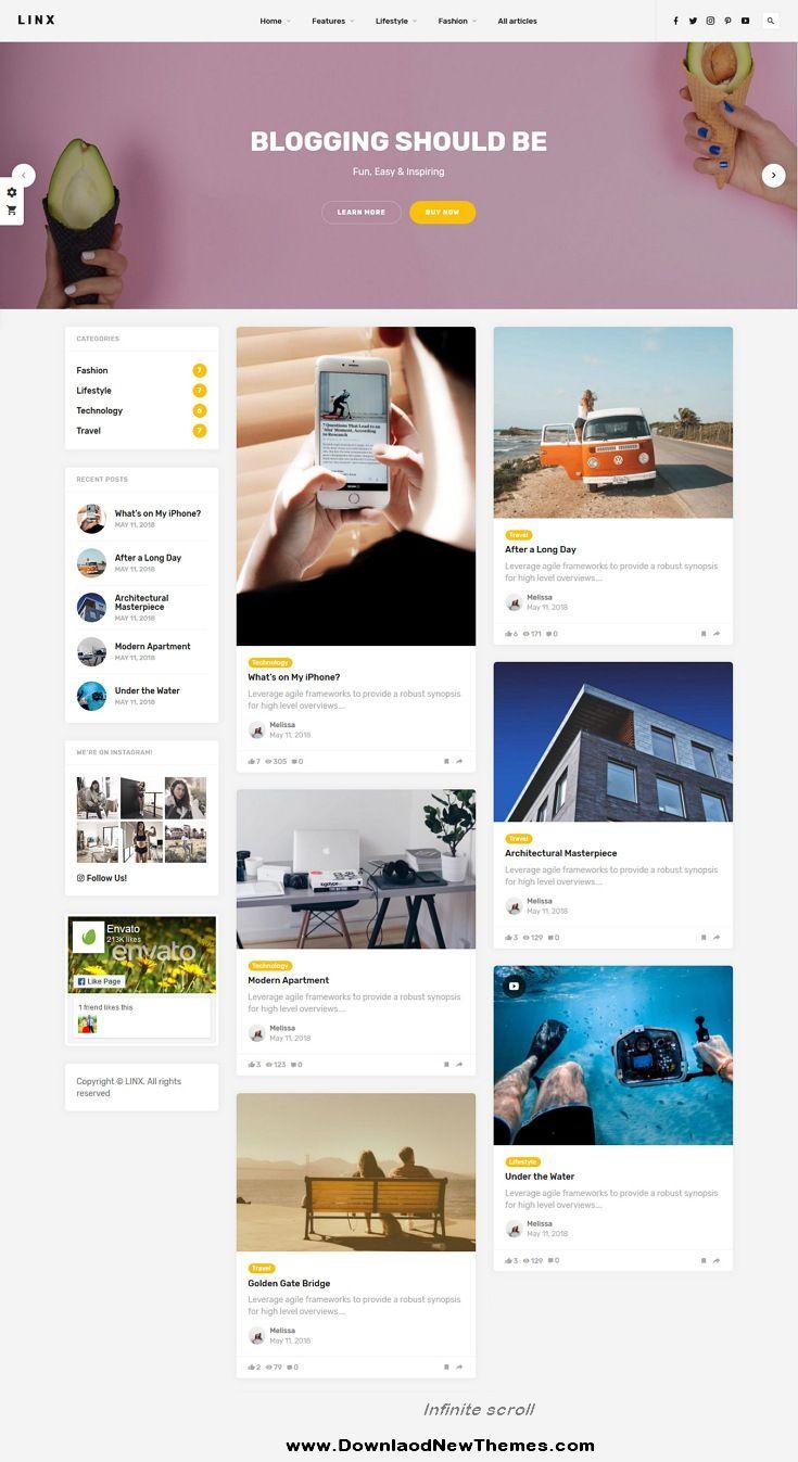 Linx Is A Clean Elegant And Modern Design Responsive Wordpress