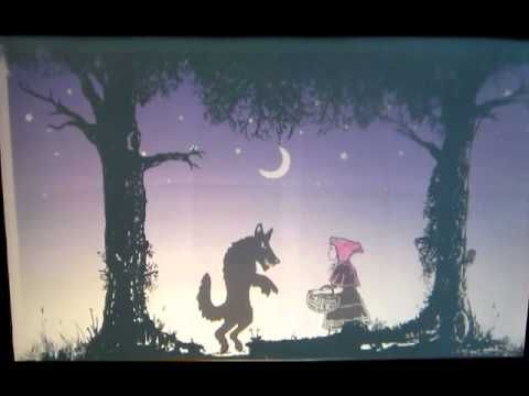 Transparency film on overhead shadow puppetry.  ▶ Little Red Riding Hood Shadow Puppet theatre - YouTube