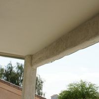 A water mist system is used to cool off an outdoor space on hot days, usually a patio area. It worsk well in a warm climate with low humidity. It should be mounted at higher levels, usually 8 to 10 feet off the ground on the outside edge of the patio cover and away from windows to avoid water spotting.