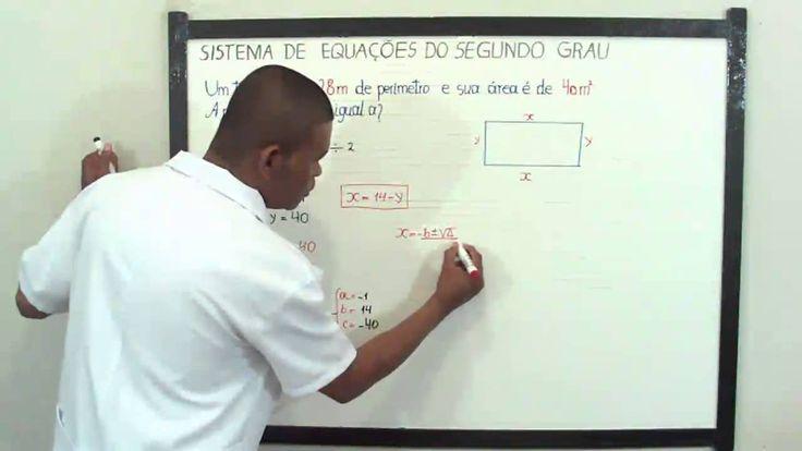 SISTEMAS DE EQUAÇÕES DO 2° GRAU, EXERCÍCIOS PASSO A PASSO, Aula Nº 120