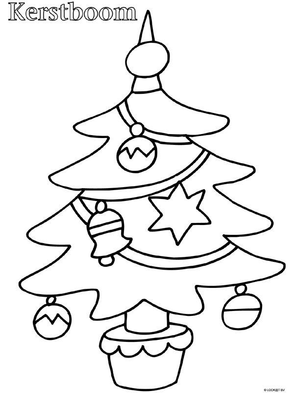Kleurplaat Peuter kleurplaat kerstboom - Kleurplaten.nl