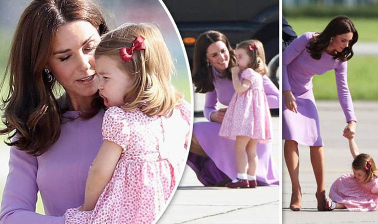 Tantrum from the Princess! Kate tells off Charlotte as young royal throws strop in Hamburg