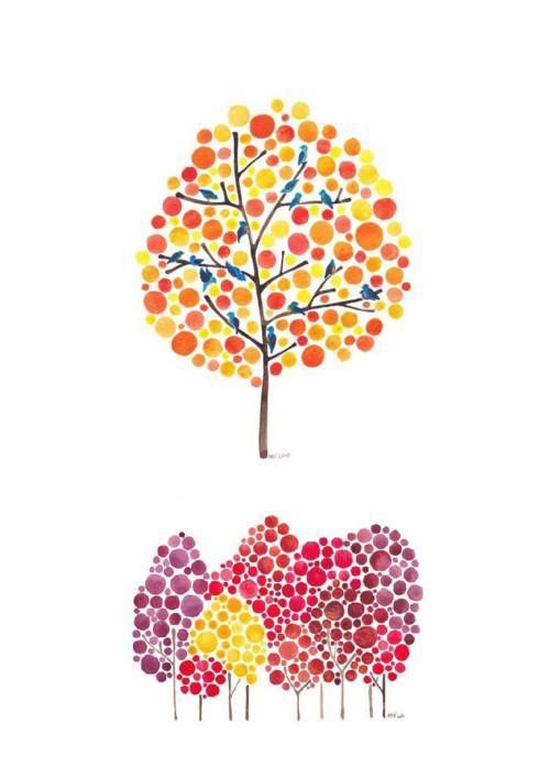 Nos arbres à la manière de Angela Vandenbogaard