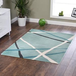 Abstract Lines Rug Blue 320x230cm