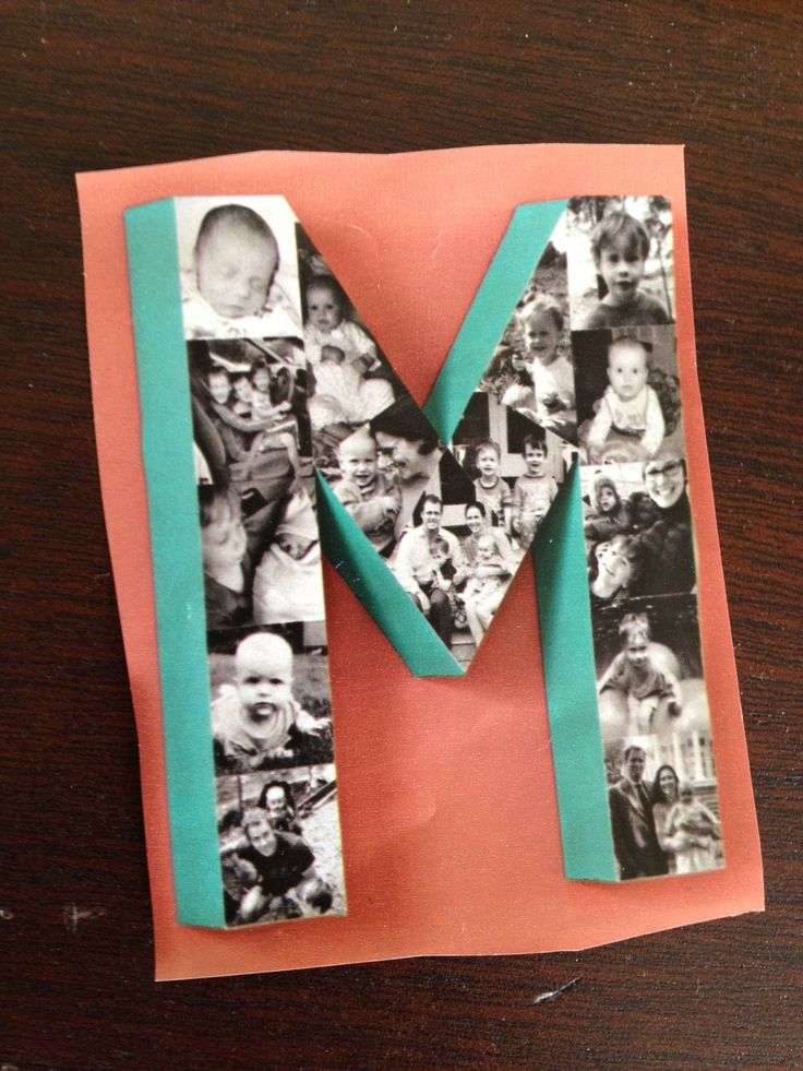 Cute Idea Decoupage Photos On A Wooden Letter And Paint
