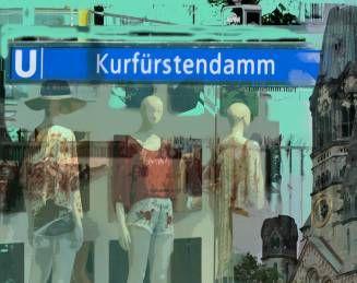 Kurfürstendamm. Berlin. Fotocollage.