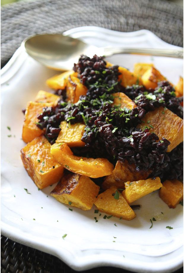 Halloween Side Dish: Butternut Squash and Black Rice | Eat • Drink ...