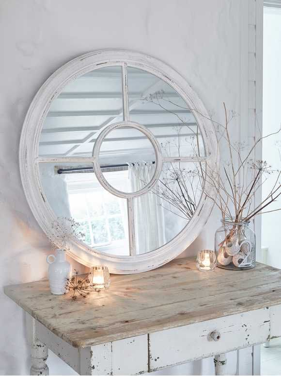 Round Loft Style Window Mirror Wall Mirrors Uk Window Mirror Loft Style