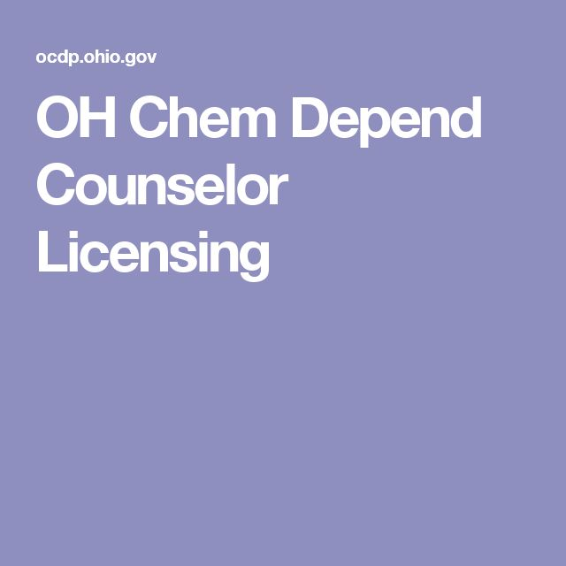 OH Chem Depend Counselor Licensing