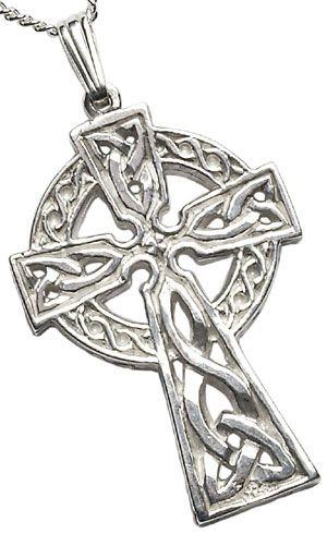 IrishJewelryOnline.com: Sterling Silver Double Sided Large Celtic Cross