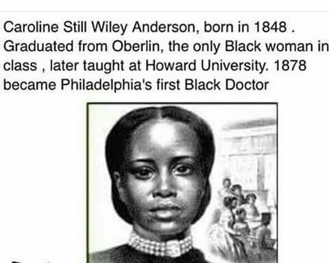 Caroline Still Wiley Anderson, Philadelphia's first Black doctor