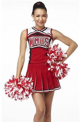 Ladies glee cheerleader school girl #fancy dress #uniform #party costume outfit 3,  View more on the LINK: http://www.zeppy.io/product/gb/2/111524300972/