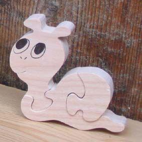 Puzzle en bois escargot à peindre