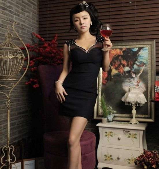 Dress Korea - LV1099LF Black  Rp 119.000,-