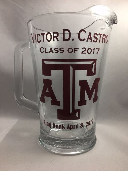 Aggie Ring Dunk Pitcher