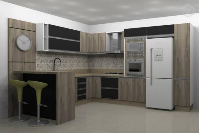 Cozinha Planejada De Canto 100 Mdf
