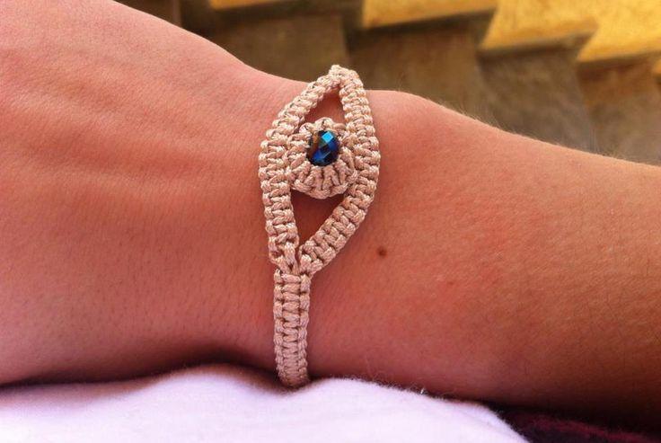 Macrame χειροποίητο βραχίολι - Handmade bracelets Spring-Summer 2015