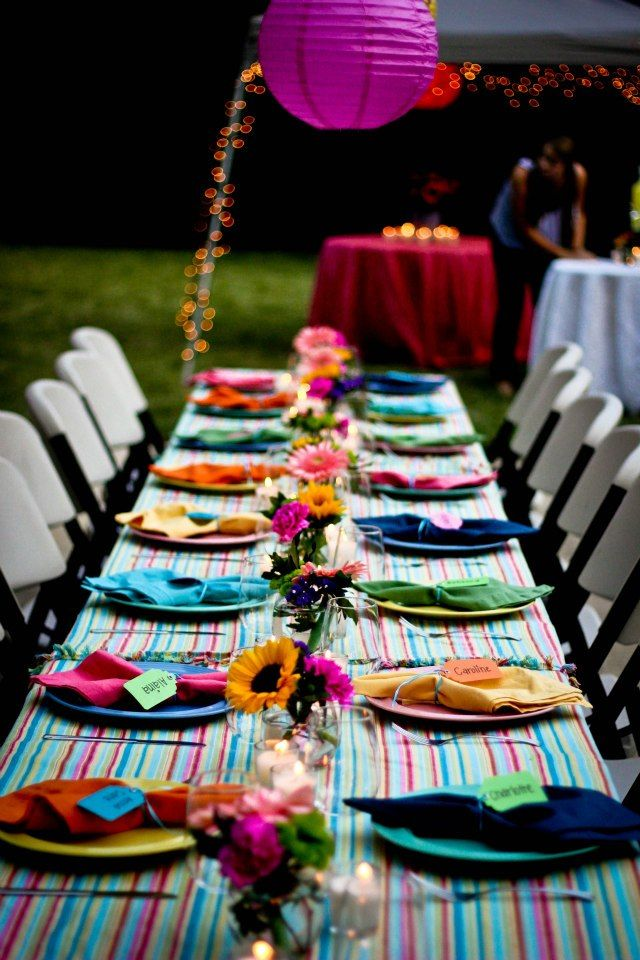 Backyard / park (if you're in NYC like us) dinner parties.