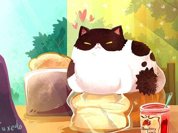 식빵위에 식빵자세시크한 턱시도 고양이 / Cool Tuxedo Cat Line 메신저에서 크리에이터즈 스티커로 올라가 있어요.
