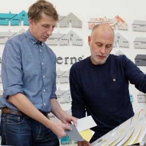 Mark Hampshire and Keith Stephenson of Mini Moderns. A highly successful interiors brand specialising in applied pattern across a range of products.