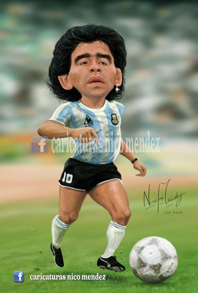 (Caricatura) Diego Armando Maradona.