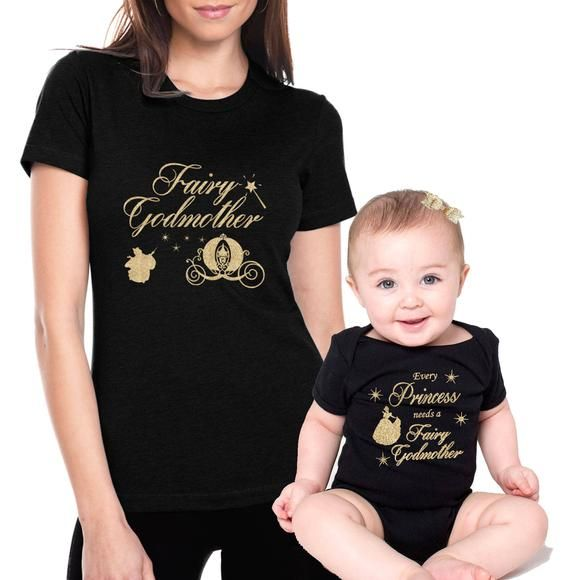 Free Shipping Fairy Godmother Shirt Goddaughter Matching Etsy