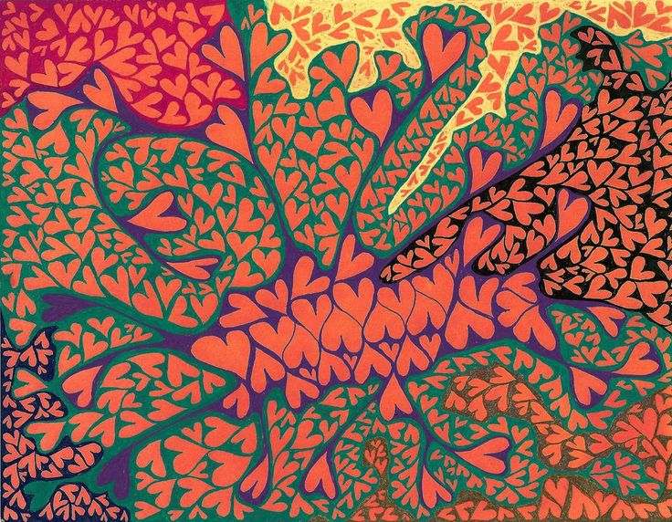 Julia Cseko 'Amour Fou 5' Ink on Paper #drawing